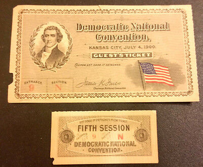 1900 Democratic National Convention Guest Ticket
