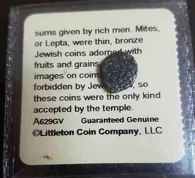 Biblical Ancient Widows Mite Copper Coin