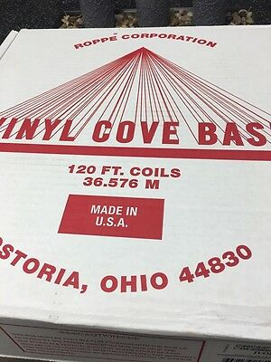 GINGKO 4 in. x 120 ft. Vinyl Wall Cove Base (1-Coil) Ivory