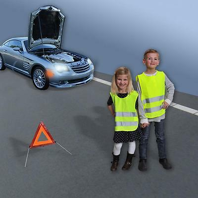 10x High Visibility Vest, for Children Size S in Accordance with EN 1150,