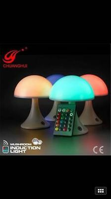Colourful Mushroom LED Lamp Romantic Night Light Colour Changing Chargeable