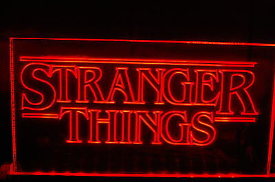 Stranger Things Neon Style Sign, totally unique, ideal contemporary gift