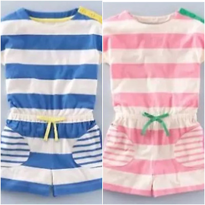 NEW IN TWO COLOURS! Girls Mini Boden Jersey Striped Jumpsuit Age 1.5-12 Yrs