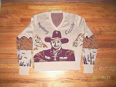 Vintage Hopalong Cassidy & Horse Topper Sweater Child's Youth Tween Teen Vgc