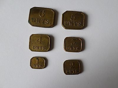 Set of 6 DWTS apothacary jewellers coin weights