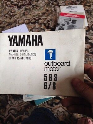 Yamaha 5BS 6/8 Outboard Motor Owners Manual Guide