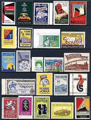 France Poster Stamps - Group of 23 Different Events - 1912-1980       (#9951)