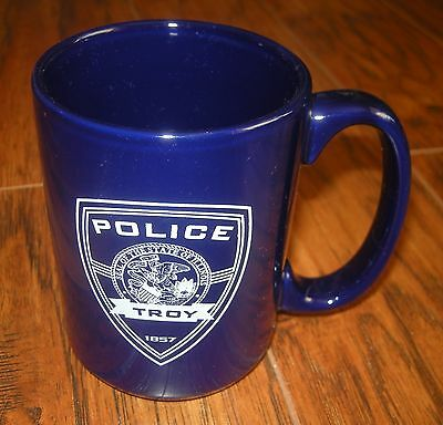 """TROY, Illinois, IL POLICE Department 4"""" tall mug or coffee cup - about 12 oz"""
