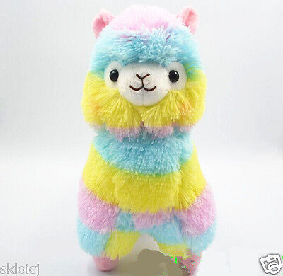 "NEW Rainbow Arpakasso Alpacasso Kawaii Alpaca Llama Plush Toy Size:13CM/5""  W015"