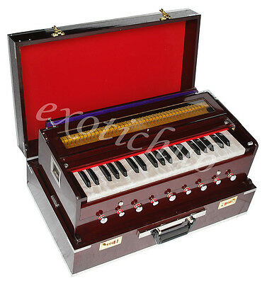 TRAVELER HARMONIUM~3½ OCTAVES~CONCERT QUALITY~BASS/MALE~440 Hz~9 STOPS~COUPLER