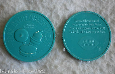 Lot of 2 Plastic Tokens Dairy Queen Free Dairy Queen Treat