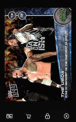Topps Slam NOW The Usos Money in the Bank *Digital Card*