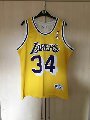 Rare - Champion - Los Angeles Lakers - O'neal 34 Shirt - Medium