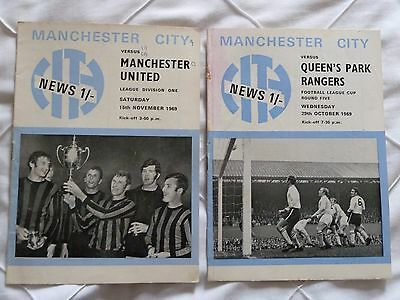 Manchester City Programmes from 1969