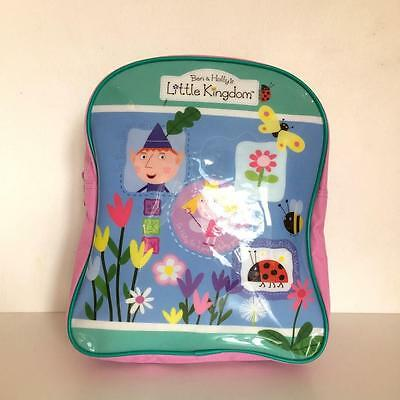 Ben & Holly's Little Kingdom Rucksack Backpack School Bag Pink & Green Girls