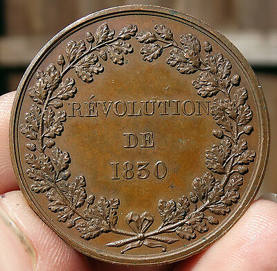 43mm FRENCH MEDAL DATED 1830 - FRENCH STUDENTS SUPPORT  THE JULY REVOLUTION 1830