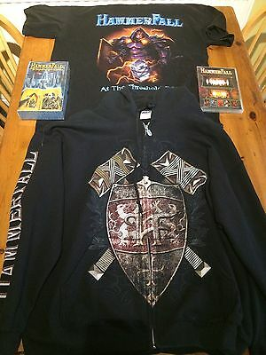 Hammerfall CD Collections, Tour Tshirt And Hoodie
