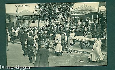MITCHAM FAIR WITH SIDE SHOWS, vintage postcard