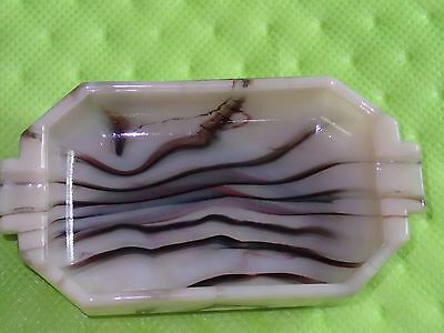Akro Agate Superb Oxblood Ashtray -  Marbles