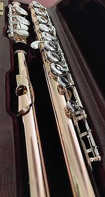 Stunning Sankyo 5K Solid Gold Flute (18K Plated) - Open Holes, Inline G, C-Foot