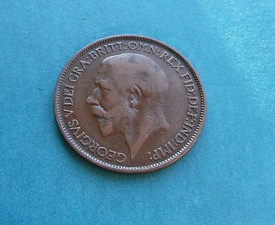 George V. Halfpenny 1925, Excellent Condition