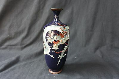 Antique Chinese Cloisonné Enamel Vase dragon stock code 3658