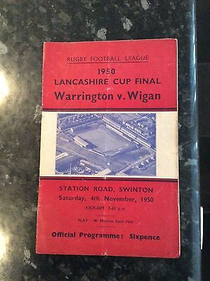 Lancashire Cup Final 1950 Warrington V Wigan At Swinton