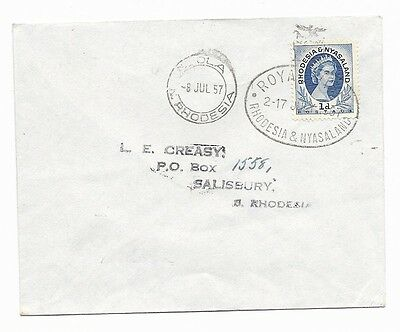 1957 Royal Visit to Rhodesia cover with Ndola postmark