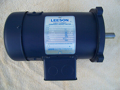 NEW!! LEESON 1/4HP 1750 RPM 90V DC Variable Speed Motor With Controller
