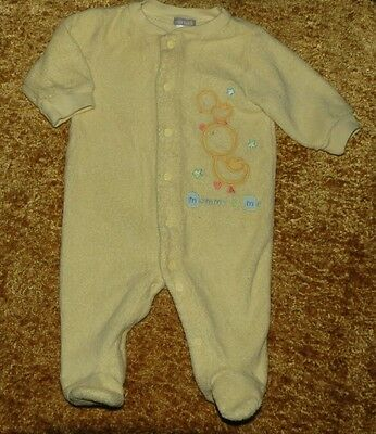 Carter's Unisex Yellow Terrycloth Footed Sleeper 3 Months Euc Mommy's & Me Ducks