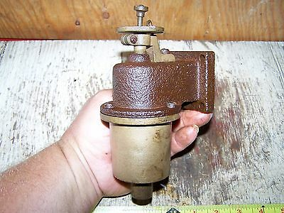 Old PERKINS Hit Miss Gas Engine Carburetor Fuel Mixer Brass Steam Tractor Oiler