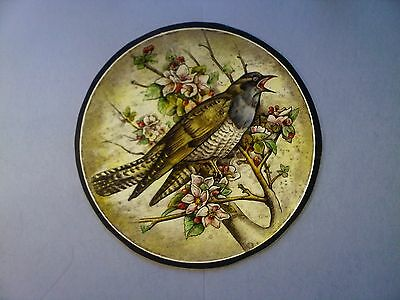 Beautiful Stained glass.BIRD. Hand painted. Kiln fired.Diameter - 210 mm. New