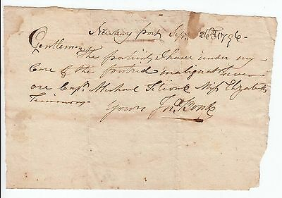 1796 NEWBURYPORT, MA- Doctors note on the care of patients with Putrid Fever