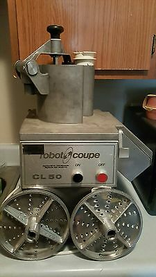 Robot Coupe CL50 Working Food Processor Vegetable Slicer Used MACHINE WORK Discs