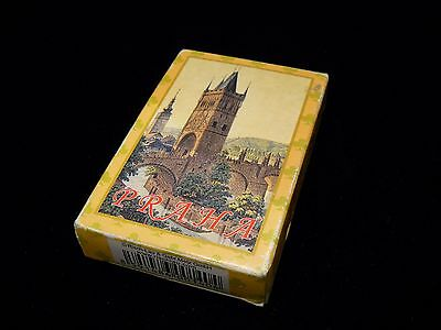 Vintage Deck of 54 Playing Cards Prague in Box made in Austria
