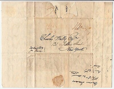 1819 NAVY YARD PHILADELPHIA- Letter concerning preparing a ship and falling over