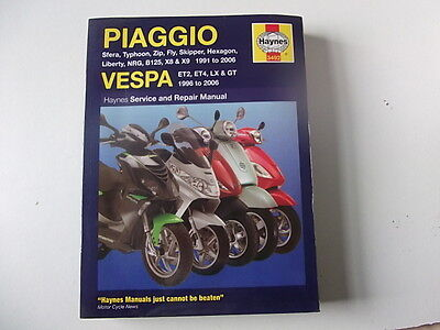 Haynes Workshop Manual Piaggio & Vespa many models covered 1991/06 + 96-06 (3492