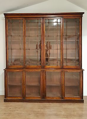 Large Antique Victorian  Country House Library  Bookcase Stunning..