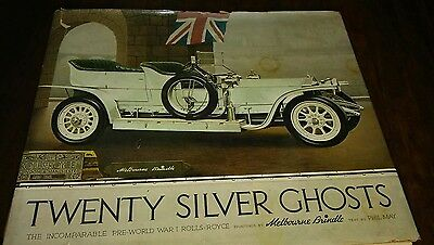 Rolls Royce TWENTY SILVER GHOSTS Colossal BRINDLE Art Print Book,1971,wght 7.5#