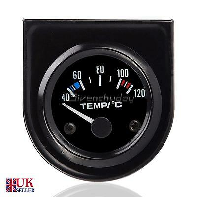 "2"" 52mm Universal Car Pointer Water Temperature Temp Gauge 40-120℃ LED Light UK"