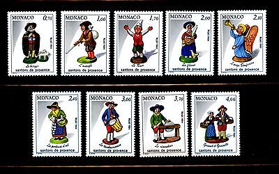 Monaco #1448-1456 (MO217) Complete 1984 Christmas issue, MNH, VF