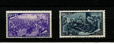 Italy #505-506 (IT198) Hi Value Garibaldi in rome & Death Mameli,M,LH,CV$150.00