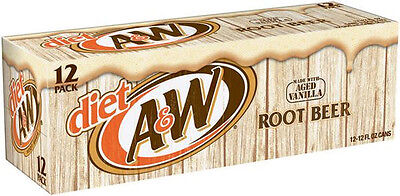 A&W Diet Root Beer 24pk -Free Shipping