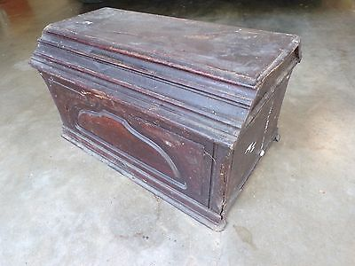 Antique Singer Treadle Sewing Machine Wood Top Cover Coffin Case Lid   202