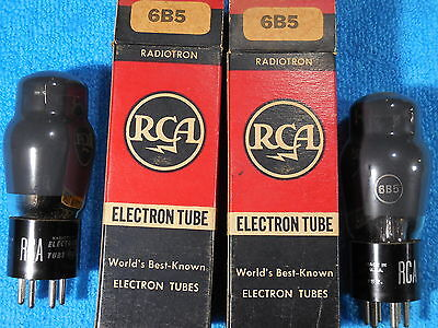 RCA 6B5 NOS match pair TEST STRONG smokey sides and top tubes.