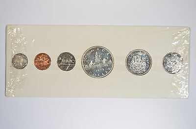 1959 Canada Uncirculated Silver Proof-Like PL Mint Set 6 Coins