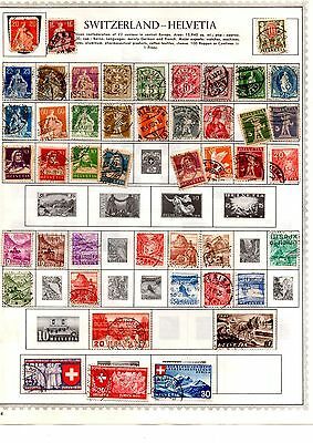 Switzerland stamps x 320 on 17 album pages many early copies