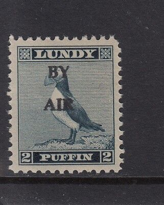 #02 Great Britain Lundy Island Puffin Stamp 1951-53 By Air WideO/pr 2p Cat #71A
