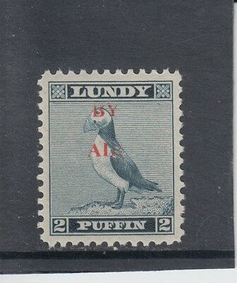#17 Great Britain Lundy Island Puffin Stamp 1951-53 By Air Red O/print
