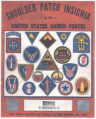 Us New Copy 1945 Wolf Appleton Ny Shoulder Patch Insignia Brochure Color+Bw Army